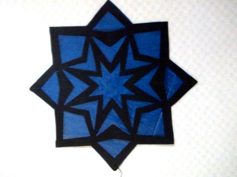 Kreativhandarbeit Gebastelter Blauer Weihnachtsstern